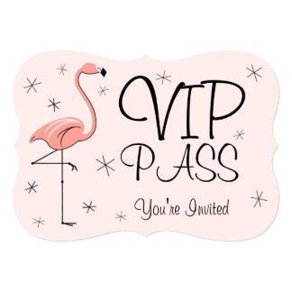 Flamingo Pink 'VIP PASS' invitation bracket