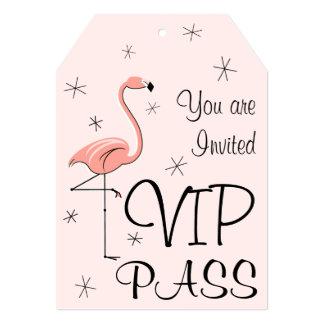 Flamingo Pink 'VIP PASS' invitation tag