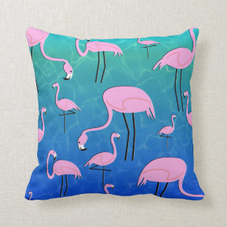 Flamingo Pond Cushion