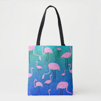 Flamingo Pond Tote Bag