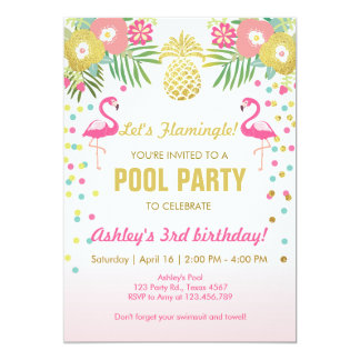 Pool Party Invitations & Announcements | Zazzle.com.au
