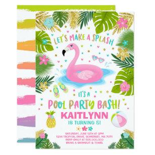 pool party invitations announcements zazzle au