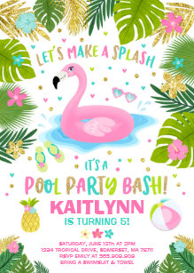 pool birthday invitations zazzle com au