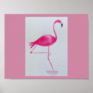 Flamingo poster art print