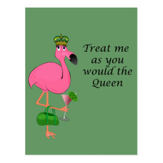 Flamingo Recipe Card Postcard