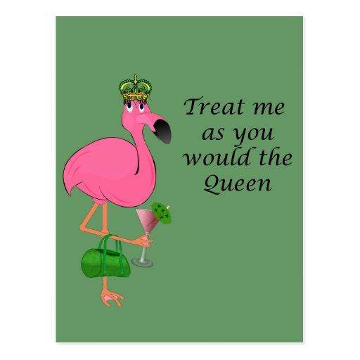 Flamingo Recipe Card Post Card
