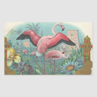 Flamingo Rectangular Sticker