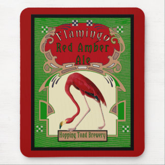 Flamingo Red Amber Ale Mouse Pad