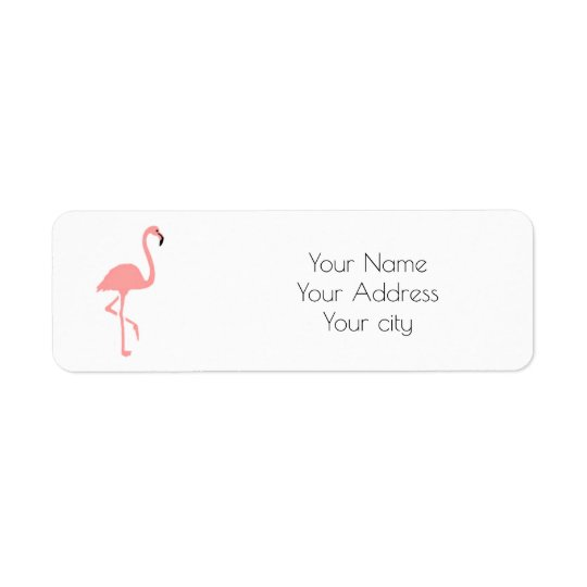 flamingo return address label