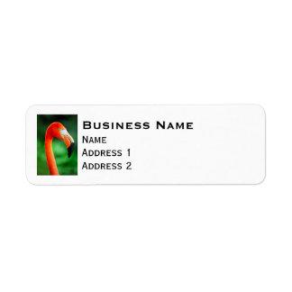 Flamingo Return Address Label
