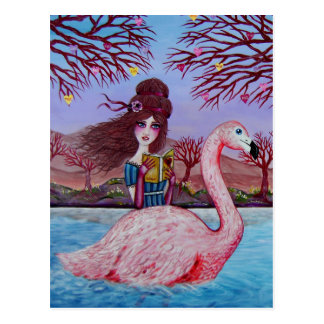 Flamingo Ride Postcard