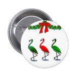 Flamingo Rockettes Dancing Show 6 Cm Round Badge