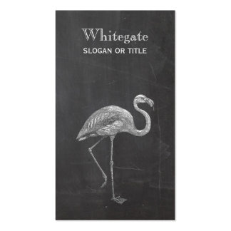 Flamingo Rustic Black Business Card