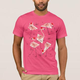 Flamingo Santas Pink t-shirt men's