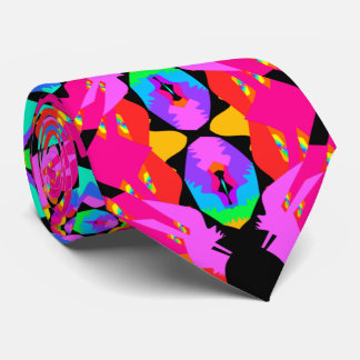 Flamingo Splash Fractal Tie