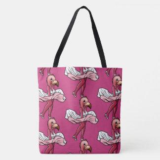 Flamingo star tote bag
