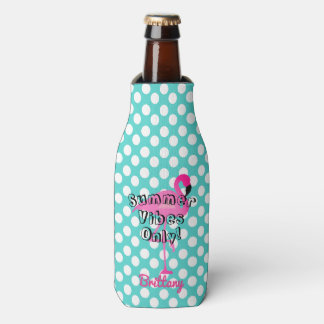 Flamingo Summer Vibes Only Bottle Cooler