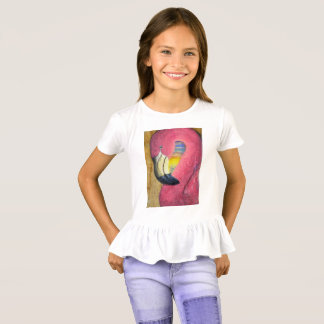 Flamingo Sunset Ruffle Tee