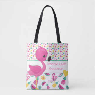 Flamingo tote bag - personalized