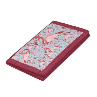 Flamingo Trifold Wallet
