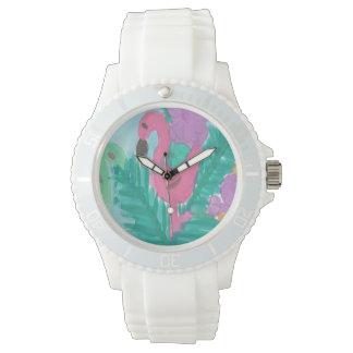 Flamingo Tropical Jungle Watch