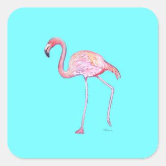 Flamingo turquoise blue sticker