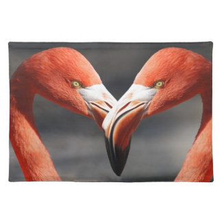 Flamingo Valentine Heart Valentine's Day Love Placemat
