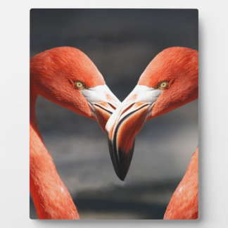 Flamingo Valentine Heart Valentine's Day Love Plaque