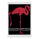 Flamingo Vintage Travel Poster