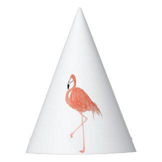 Flamingo Watercolor Party Hat