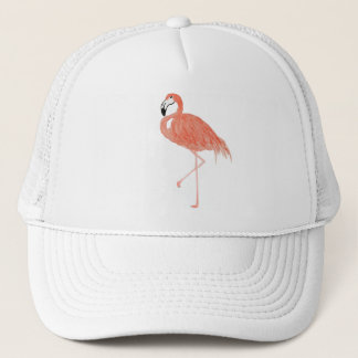 Flamingo Watercolor Trucker Hat
