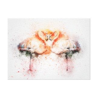 Flamingo Watercolour Canvas Print
