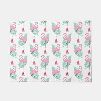 Flamingo & Watermelon Pastel Pattern Doormat