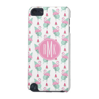 Flamingo & Watermelon Pastel Pattern iPod Touch (5th Generation) Case
