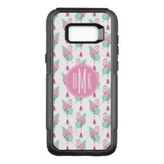 Flamingo & Watermelon Pastel Pattern OtterBox Commuter Samsung Galaxy S8+ Case
