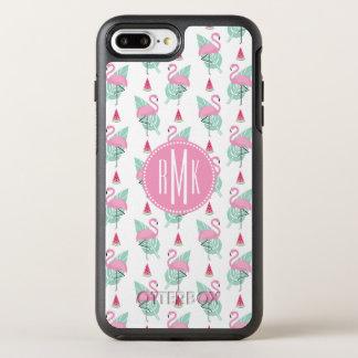 Flamingo & Watermelon Pastel Pattern OtterBox Symmetry iPhone 8 Plus/7 Plus Case