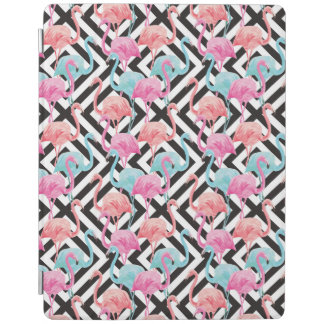 Flamingoes on Bold Design Pattern iPad Cover