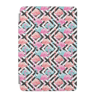 Flamingoes on Bold Design Pattern iPad Mini Cover