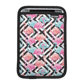 Flamingoes on Bold Design Pattern iPad Mini Sleeve