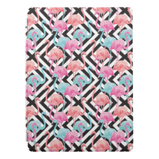 Flamingoes on Bold Design Pattern iPad Pro Cover