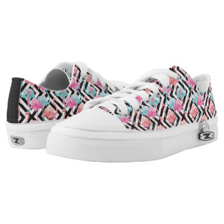 Flamingoes on Bold Design Pattern Low Tops