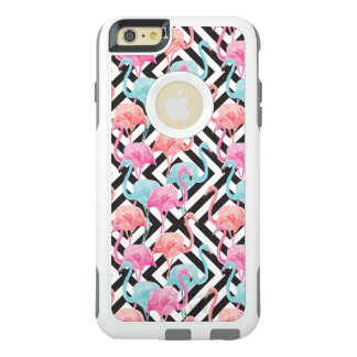 Flamingoes on Bold Design Pattern OtterBox iPhone 6/6s Plus Case