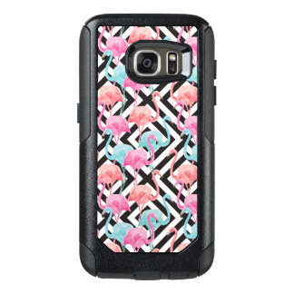 Flamingoes on Bold Design Pattern OtterBox Samsung Galaxy S7 Case