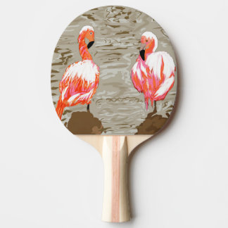 Flamingoes & Pelican Ping Pong Paddle