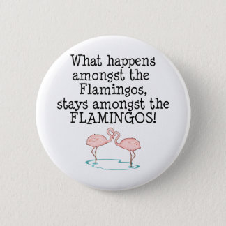 Flamingos 6 Cm Round Badge