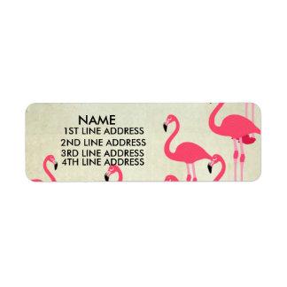 Flamingos Address Labels Personalised