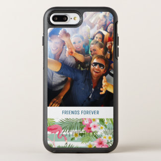 Flamingos And Stripes | Add Your Photo & Text OtterBox Symmetry iPhone 7 Plus Case