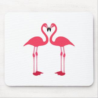 Flamingos cartoon mouse pad