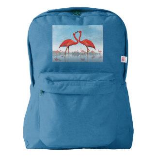 Flamingos courtship - 3D render Backpack
