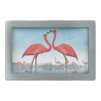 Flamingos courtship - 3D render Belt Buckle